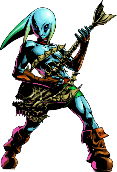 Mikau playing his guitar. Wait, no, that's Link!